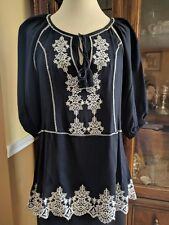 SUGAR LIPS Embroided Tunic Size Small NWT