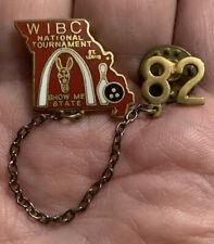 Vintage Enamel WIBC National Tournament Lapel Pin. Bowling 1982