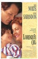 LORENZO'S OIL MOVIE POSTER Original 27x40 NICK NOLTE SUSAN SARANDON