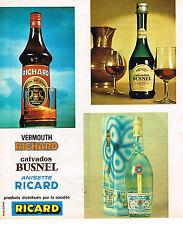 PUBLICITE ADVERTISING 084  1975  RICARD   produits distribués par la SOCIETE