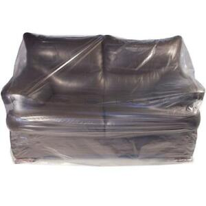 Armchair & Sofa/Settee Plastic Bag Poly Covers - Moving/Storage Protection