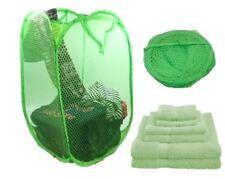 Green Washing Folding Basket Pop-Up Laundry Net Bag Children Toy Storage Hamper