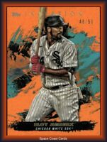 2021 TOPPS INCEPTION BASEBALL ELOY JIMENEZ ORANGE SSP PARALLEL /50 WHITE SOX