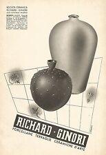 W9562 RICHARD-GINORI - Ceramiche d'arte - Pubblicità del 1938 - Old advertising