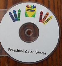 150 Printable Preschool Coloring Sheets.  Educational worksheets for children.