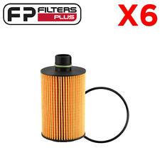 6 x WCO201 Wesfil Oil Filter - Jeep, Dodge Ram - 68229402AA, P7517, WL10060
