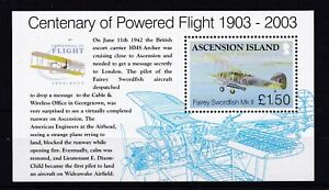 ASCENSION ISLAND MNH STAMP SHEET 2003 CENTENARY OF POWERED FLIGHT SG MS884