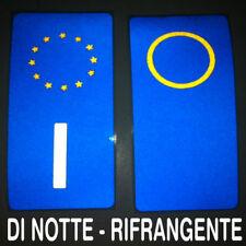 Adesivi vinile targa sigla anno auto etichette europa omologati RIFRANGENTI