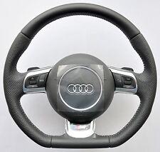 AUDI S Line A3 A4 A5 A6 A8 TT R8 Q5 Q7 Flat Bottom Steering Wheel DSG PADDLES