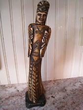 Antique/Vintage Carved Chinese Bovine Bone Figure Statue Emperor/Empress Asian
