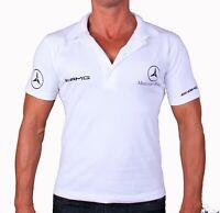 Меrсеdеs АМG Веnz Collier T-shirt Polo Feuille De Stickers Blancs Logo Homme