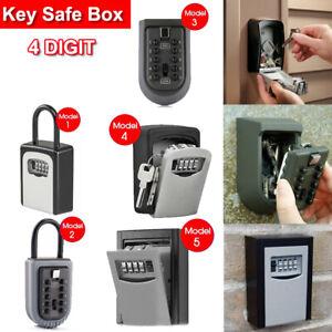 Combination Lock Key Safe Storage Box Padlock Security Home Outdoor