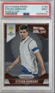 2014 Prizm World Cup Steven Gerrard #139 PSA 9