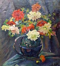 dipinto Frame Circa 1900 TELA FIORI