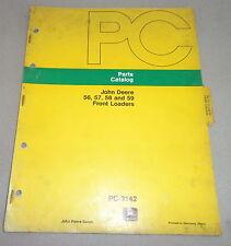 Parts Catalog Parts Catalog John Deere Front Loader Front Loader 56575859 1975