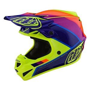 2020 Troy Lee Designs SE4 ECE Poly Beta Yellow/Purple Helmet adults
