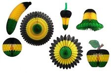 Celebrate Jamaica Honeycomb Party Decorations (8 pieces)