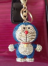 Extra Large Crystal Alloy Doraemon Purse Charm Key Chain Key Ring