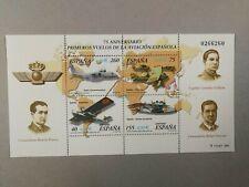 Sellos de España. Año 2001 Nuevos. MNH. HB aviación española