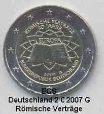 Deutschland 2 Euro Gedenkmünze 2007 Römische Verträge Mz. G unz.-bfr.