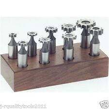 9 PC WOODRUFF KEY CUTTER BIT KEYSEAT KEYSET FOR MILLING MACHINE TOOL TOOLING