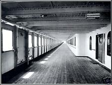 Photo: On Titanic's Starboard Side B-Deck Looking Aft Before Maiden Voyage, 1912