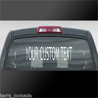 Personalised Custom Rear Window Car Stickers Vinyl Name Lettering Decals