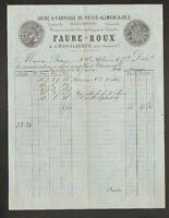 """CHAMALIERES (63) USINE de PATES ALIMENTAIRES & SEMOULE """"FAURE & ROUX"""" en 1892"""