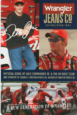 2004 Dale Earnhardt, Jr. Wrangler Chevy Monte Carlo NASCAR postcard