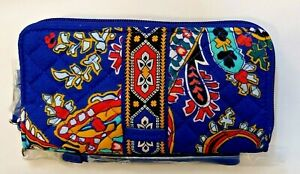 NWT Vera Bradley Iconic RFID Accordion Wristlet Wallet in Romantic Paisley