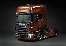A3 Scania Black Amber R730 V8 Tag Axle Lorry Poster Picture Art Print