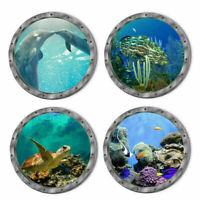 3D Ocean Sea Fish Turtle Wall Decal Vinyl Art Kids Room Decor Sticker 29X29cm
