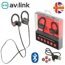AVLink IPX7 Bluetooth Waterproof Wireless In-Ear Rechargeable Headphones black