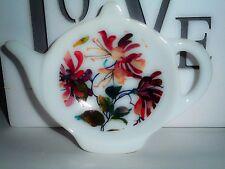 BN HoneysuckleTea Bag Tidy, Tea Bag Rest, Porcelain Ceramic Tea Bag Holder