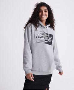 Superdry Damen Brand Language Oversized Hoodie