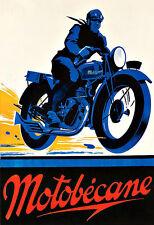 Motobécane  Bike MotorBike MotorCycle  Deco   Poster Print