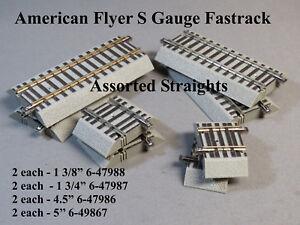 LIONEL AMERICAN FLYER  ASSORTED STRAIGHT TRACK S GAUGE 6-47988 47987 47986 49867