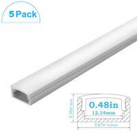 5X 0.5M Flush Mount Aluminum LED Strip DIY Light Fixture Profile Channel Housing