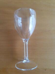 Polycarbonate Premium Plastic 4 Wine Glasses - Catering Quality - Reusable