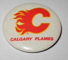 1980's Ice Hockey Pin Button Coin NHL Calgary Flames Sergei Makarov Pinback