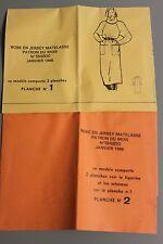 """"""" MODES & TRAVAUX """" PATRON JANVIER 1986 + PATRON POUPEE MARIE FRANCOISE A10"""