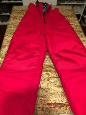 LL Bean Boys Girls Red Ski Snow jumpsuit fleece lined Sz 8