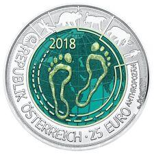 Oostenrijk 25 Euro 2018 Antropoceen proof NIOB - Austria Autriche Antropocene