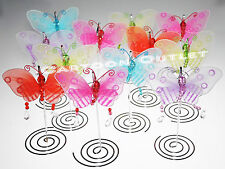 6 pc BUTTERFLY CARD PICTURE HOLDERS WEDDING BRIDAL SHOWER PARTY FAVORS 15 ANOS