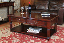 Mahogany Traditional Coffee Tables without Assembly Required