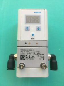FESTO PNUEMATIC REGULATOR VPPE-3-1-1/8-6-420-E1 WITH 10m CONNECTION CABLE