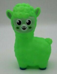 Rinco 02720 Neon Green Animal Plastic Llama Dog Cat Pet Toy 6 Inches Squeaker