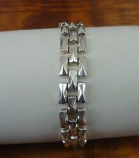 "Milor Italy Link Chain Sterling 925 Silver Bracelet 8 1/4"" Long"