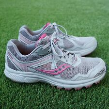 Saucony Womens Cohesion 10 Running Sneaker Shoes Size 9.5 Grey Pink S15354-1
