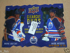 Promo Display - 2008 09 Upper Deck Clearcut Duos Wayne Gretzky Mark Messier   ZP